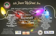 Information card for Lighting of the Trees event on 12/13/15